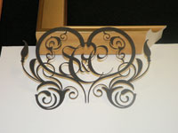 A laser-cut mat example to advertise to other frameshops.