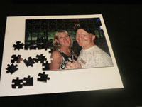 A laser-cut picture puzzle example